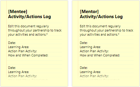 Action Log document