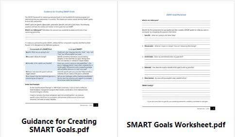 SMART Goals documents