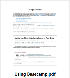 Using Basecamp document
