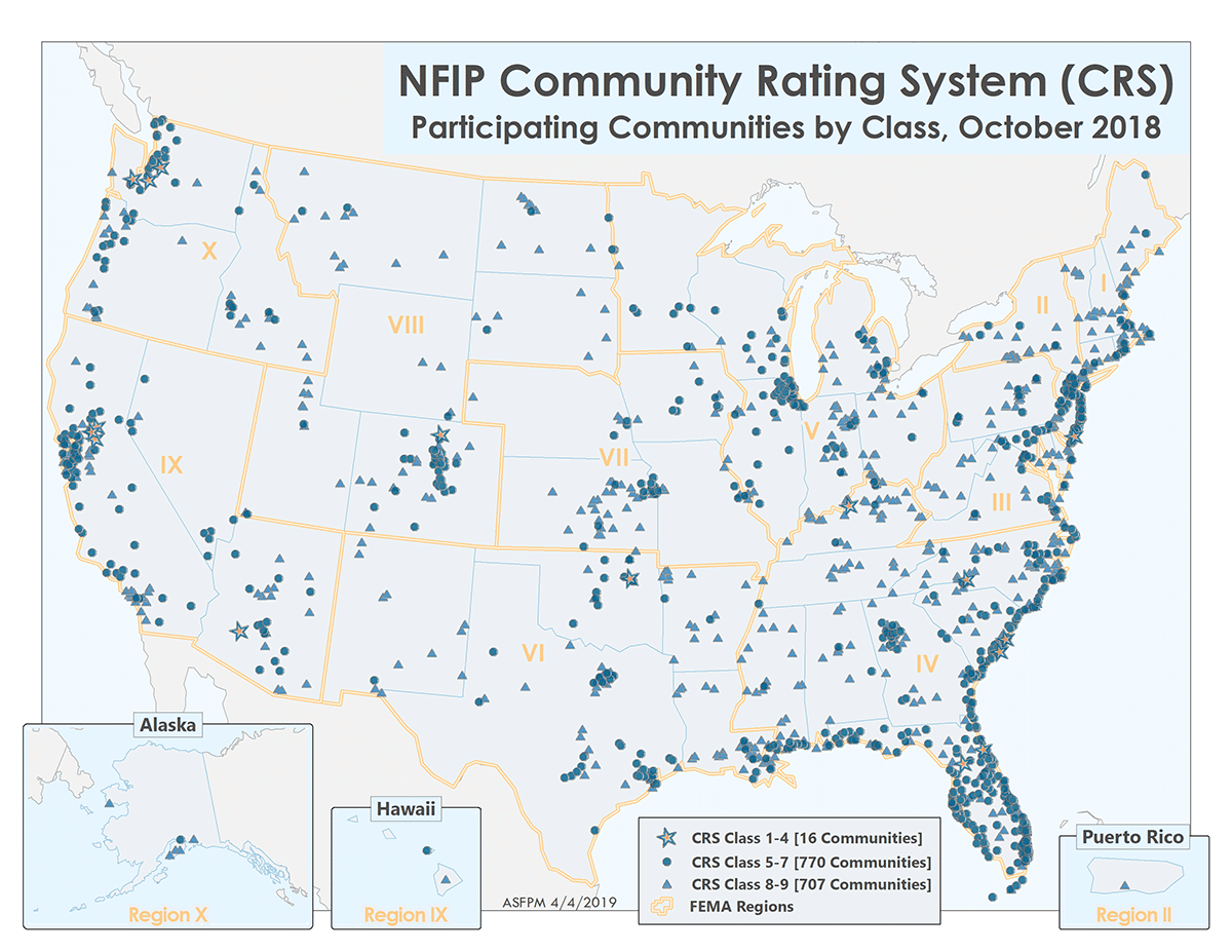 Map of CRS participating communities.