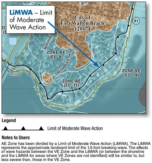 Map showing LiMWA line.