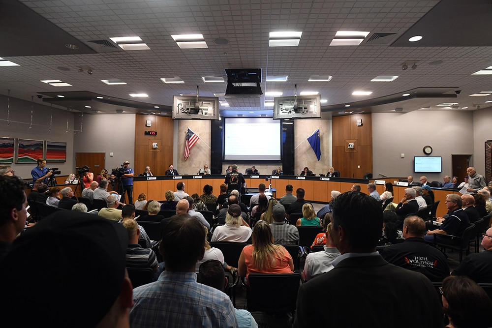 Picture of Reno City Council public meeting.